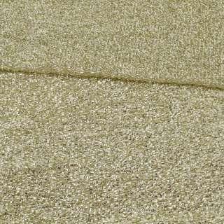 Мерехтливий трикотаж з м'якою мішури світле золото, ш.155