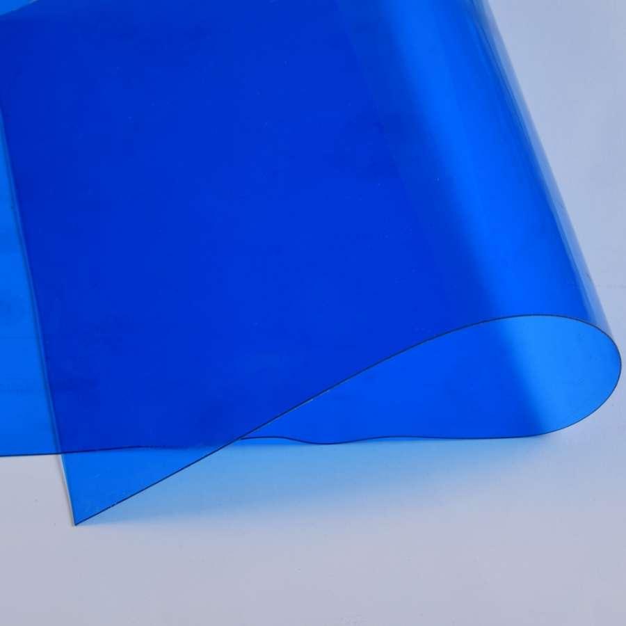 Силикон (0,5мм) синий прозрачный ш.122