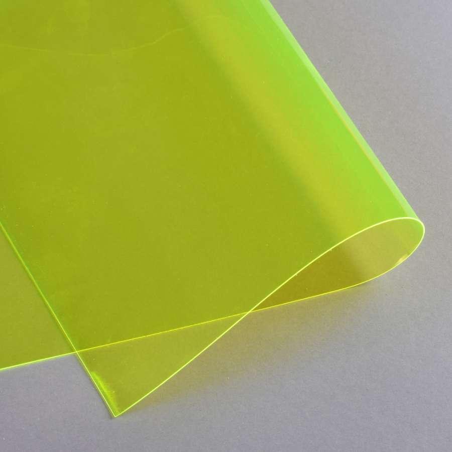 Силикон (0,5мм) желтый неоновый прозрачный ш.122