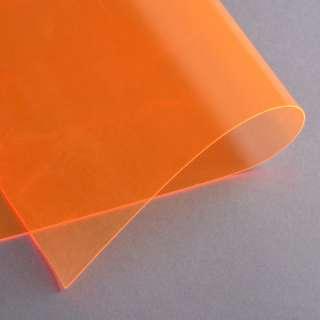 Силікон (0,5мм) помаранчевий неоновий прозорий ш.122