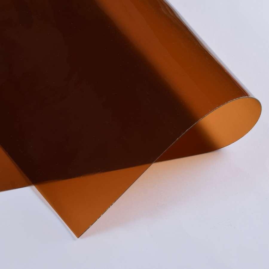 Силикон (0,5мм) коричневый прозрачный ш.122