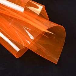 Силикон (0,3мм) оранжевый неон прозрачный ш.122