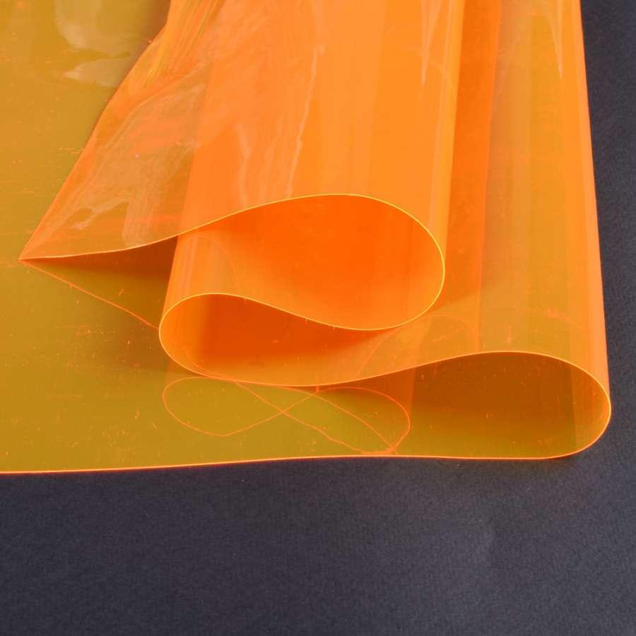Силикон (0,2мм) оранжевый неоновый прозрачный ш.122