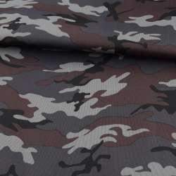 ПВХ тканина оксфорд 600D камуфляж сіро-чорний ш.150