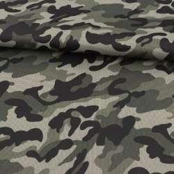 ПВХ тканина оксфорд 600D камуфляж оливково-чорний ш.150