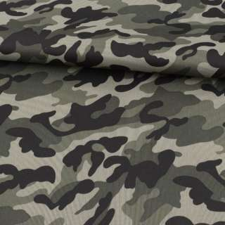 ПВХ ткань оксфорд 600D камуфляж оливково-черный ш.150