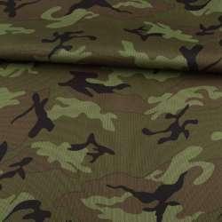 ПВХ тканина оксфорд 600D камуфляж оливково-зелений ш.155