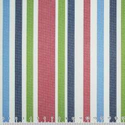 ПВХ ткань оксфорд 600 D в полоску зелено-синюю+ вишнево-белую  ш.150