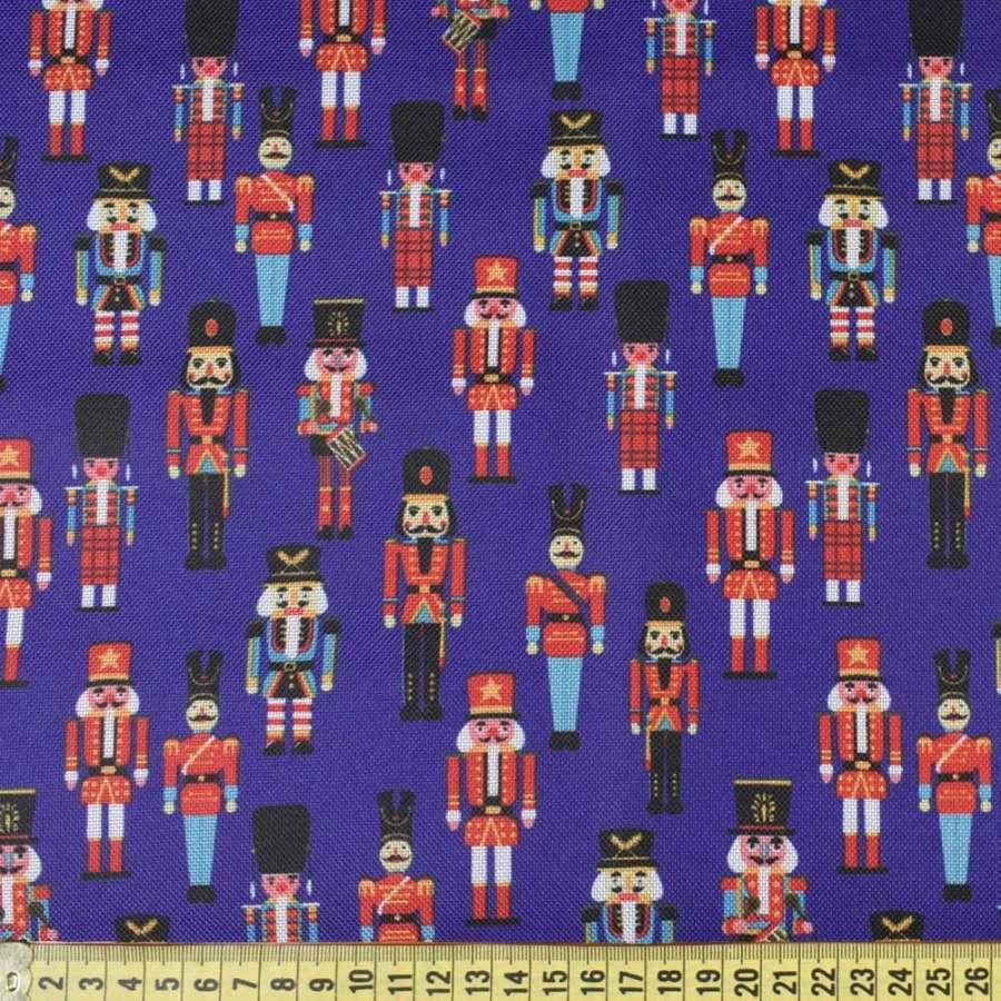 ПВХ ткань оксфорд 600 D синяя в игрушечные солдатики, ш.150
