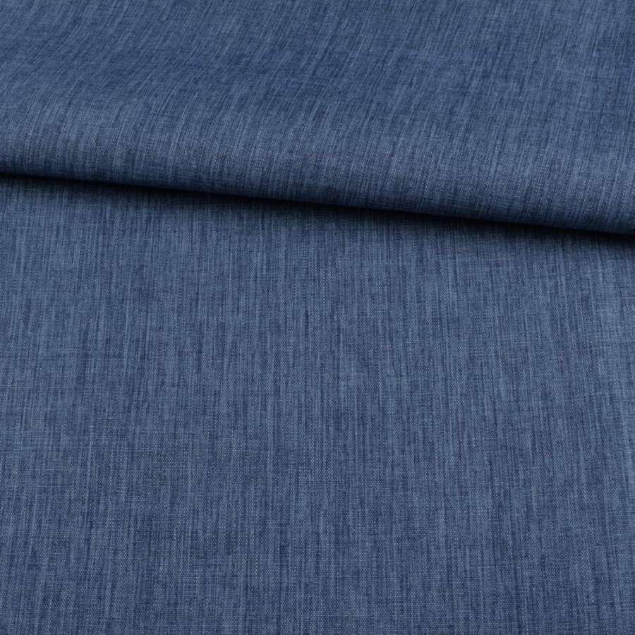 ПВХ ткань оксфорд лен 300D синий темный, ш.150