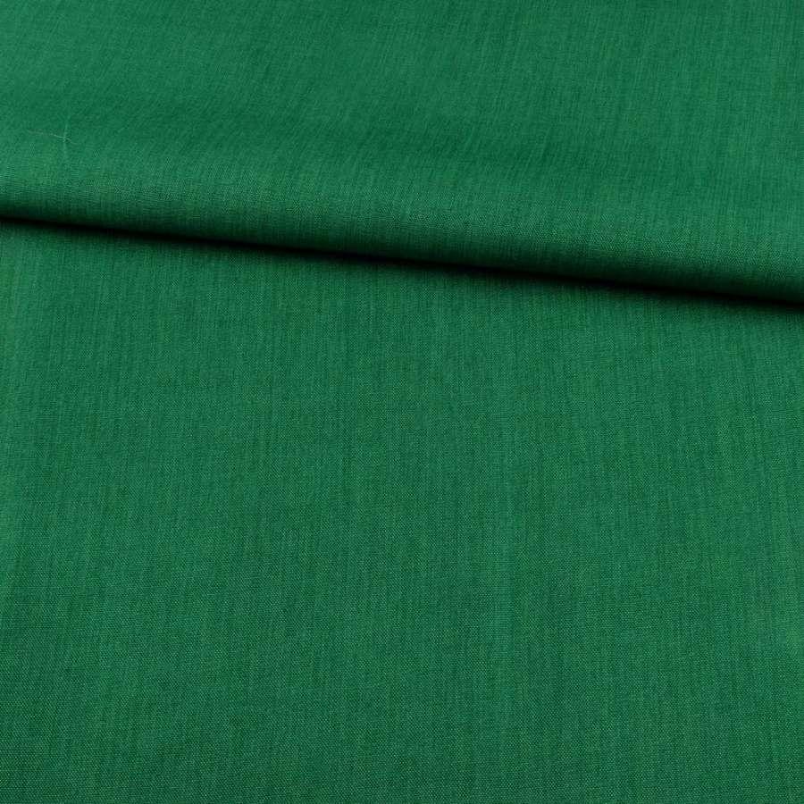 ПВХ ткань оксфорд лен 300D зеленый темный, ш.150
