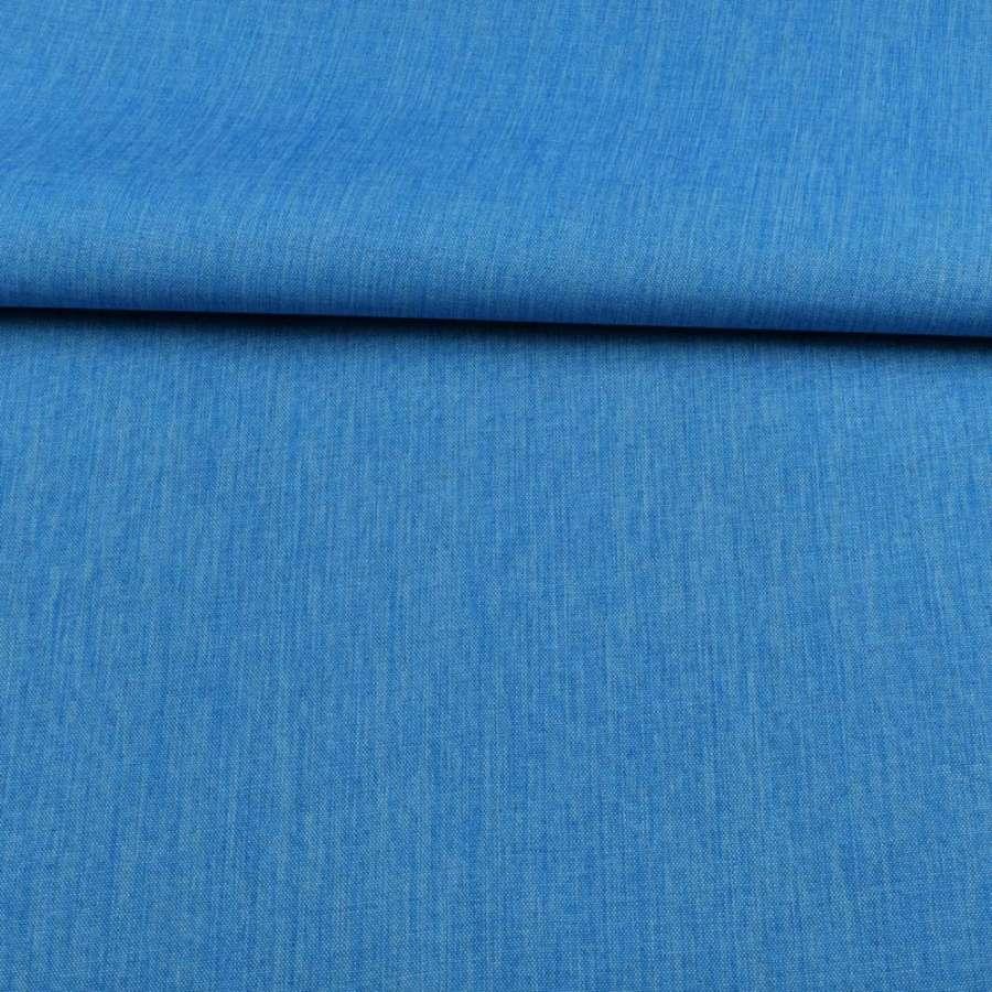 ПВХ ткань оксфорд лен 300D голубой яркий, ш.150