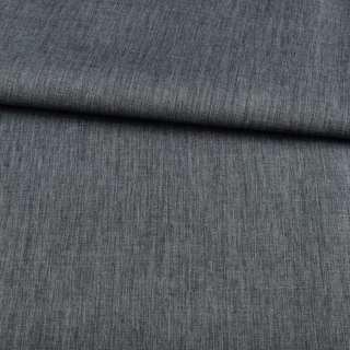 ПВХ тканина Оксфорд льон 300D сіро-синій темний, ш.150