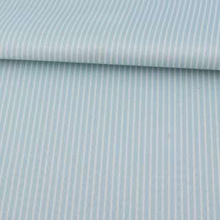 Ткань ПВХ голубая в белую полоску, ш.150