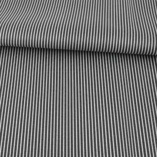 Ткань ПВХ черная в белую полоску, ш.149