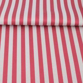 Ткань ПВХ бело-красная полоска, ш.150