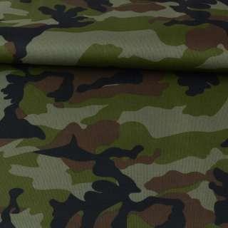 ПВХ ткань оксфорд 600D камуфляж зелено-коричневый, ш.150