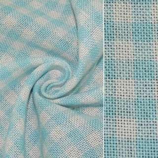 рогожка в біло-блакитну клітку ш.150