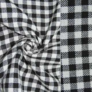 рогожка в чорно-білу клітинку ш.150