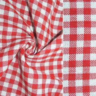 рогожка в червоно-білу клітинку ш.150