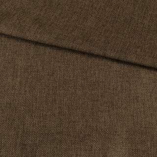 Рогожка деко коричневая меланж, ш.150