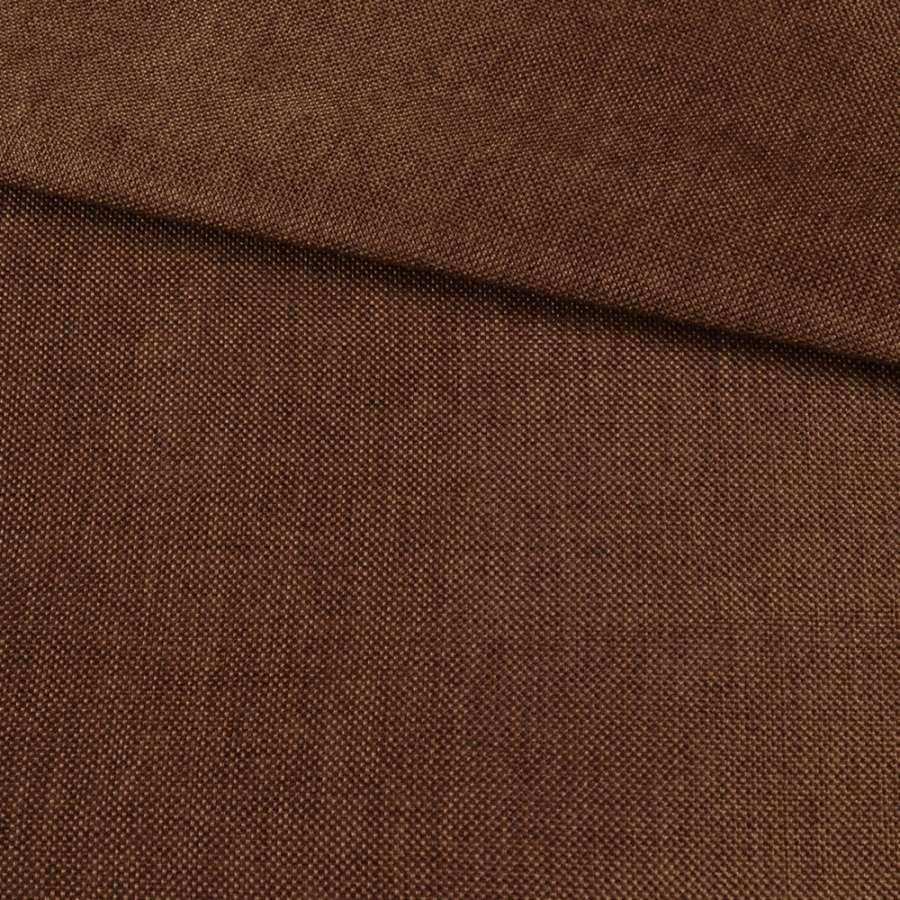 Рогожка деко коричнева темна меланж, ш.150