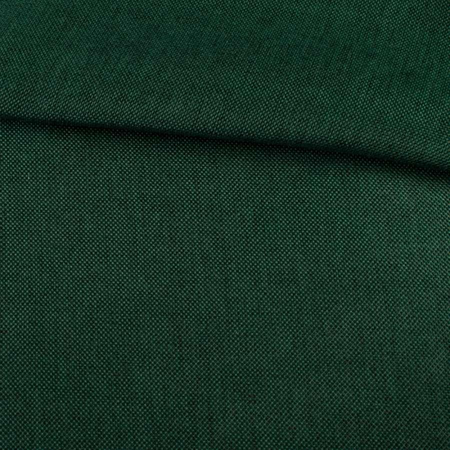Рогожка деко зеленая темная меланж, ш.150