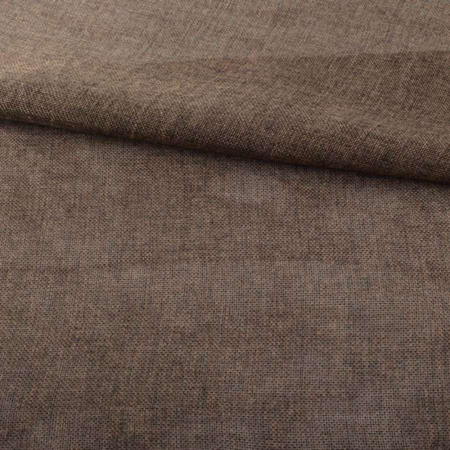 Рогожка деко коричнево-сіра меланж ш.150