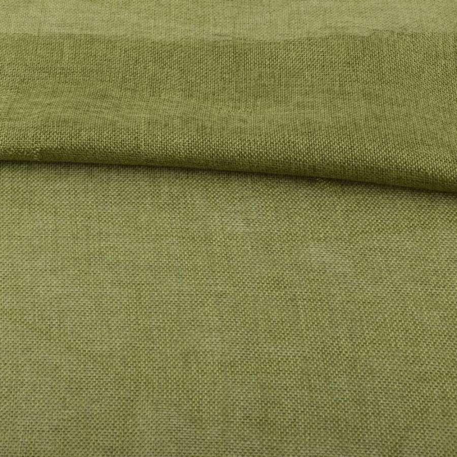 Рогожка деко оливково-зеленая ш.150