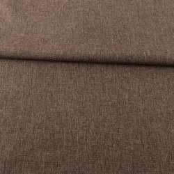 Рогожка деко коричнева меланж, ш.150