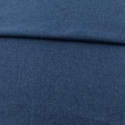 Рогожка деко синя темна ш.150