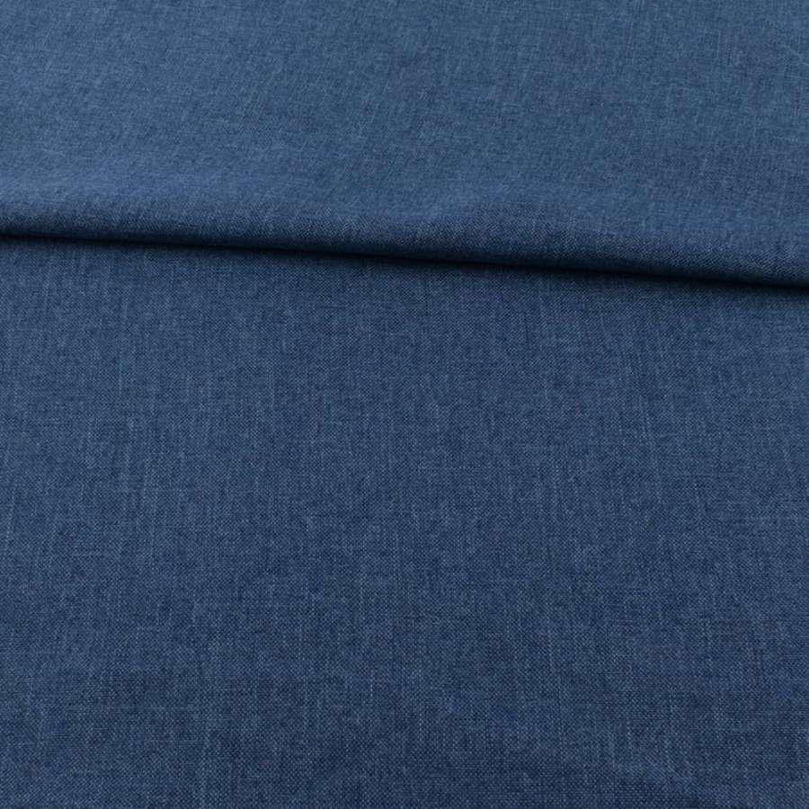 Рогожка деко синяя темная ш.150