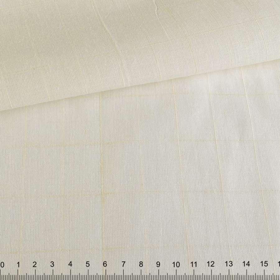 Лен рубашечный неотбеленный в структурную клетку ш.158