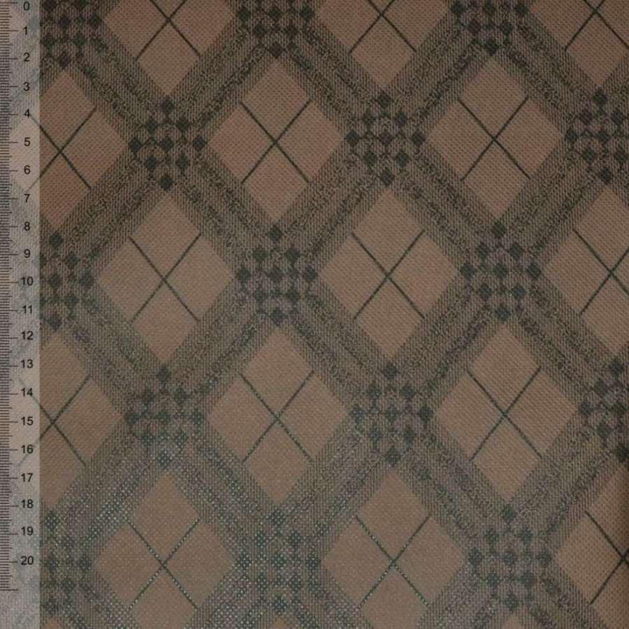 флизелин неклеевой св/коричневый в черные ромбы (плотн.80) ш.160