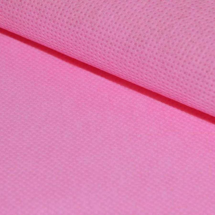 Флизелин неклеевой (спанбонд) розовый, плотность 60, ш.160
