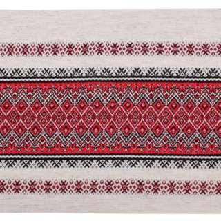 Ткань с украинским орнаментом Мистраль, раппорт 23см, ш.150