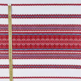 Ткань с украинским орнаментом Родинна рушникова, длина раппорта 240см, ш.148