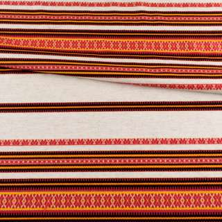 Ткань с украинским орнаментом Декоративна, раппорт 45см, ш.150