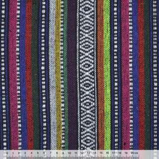 """ткань """"этно"""" фиолет.-малин.+ оранж. полосы с орнаментом ш.150"""