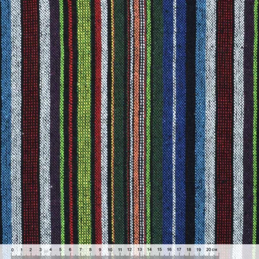 """ткань """"этно"""" зелено-синие+бело-красные полосы  ш.145"""