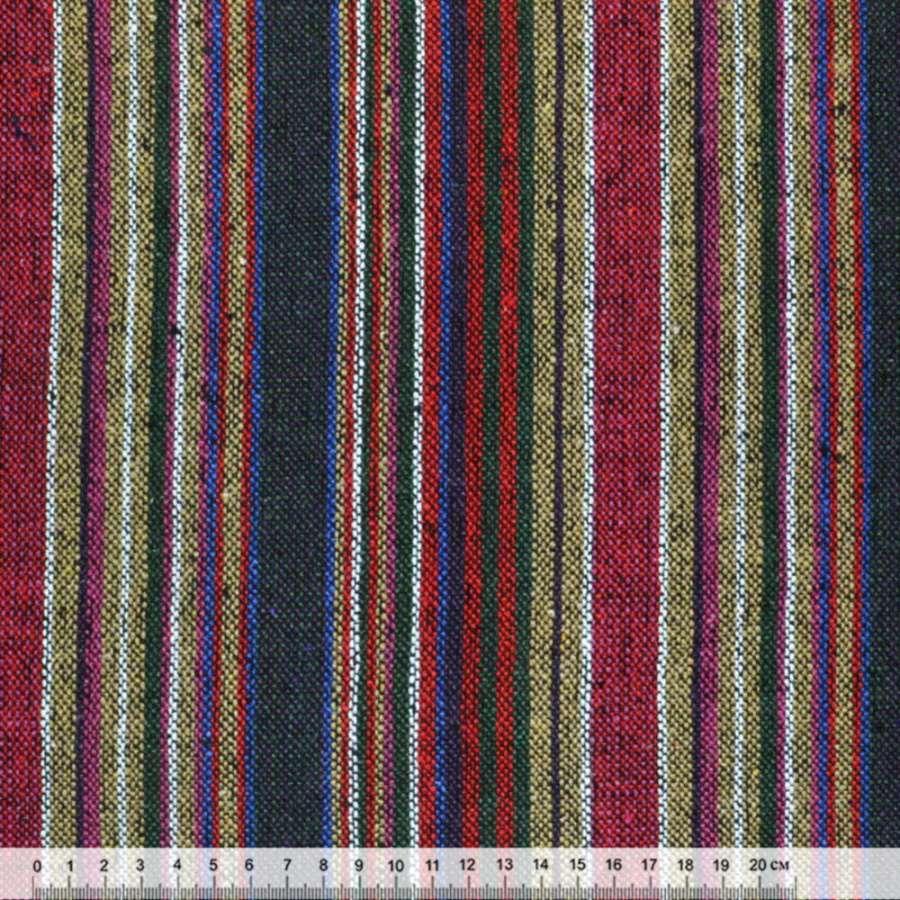 """ткань """"этно"""" малиново-бежев.+зелено-белые полосы ш.150"""