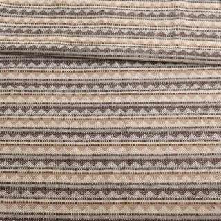 Тканина етно молочна в бежево-коричневі трикутники ш.147