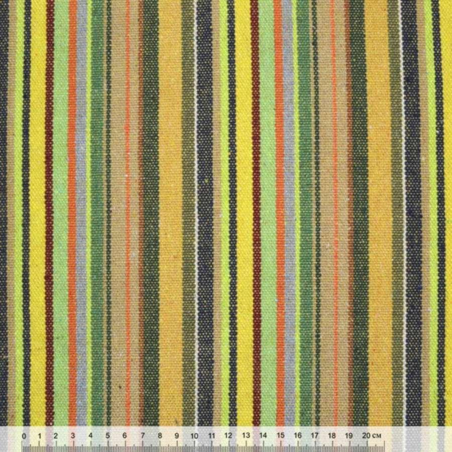 """ткань """"этно"""" желто-салат.+ бежево-зеленые полоски ш.150"""