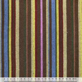 """ткань """"этно"""" желто-синие+бежево-коричневые полоски ш.149"""