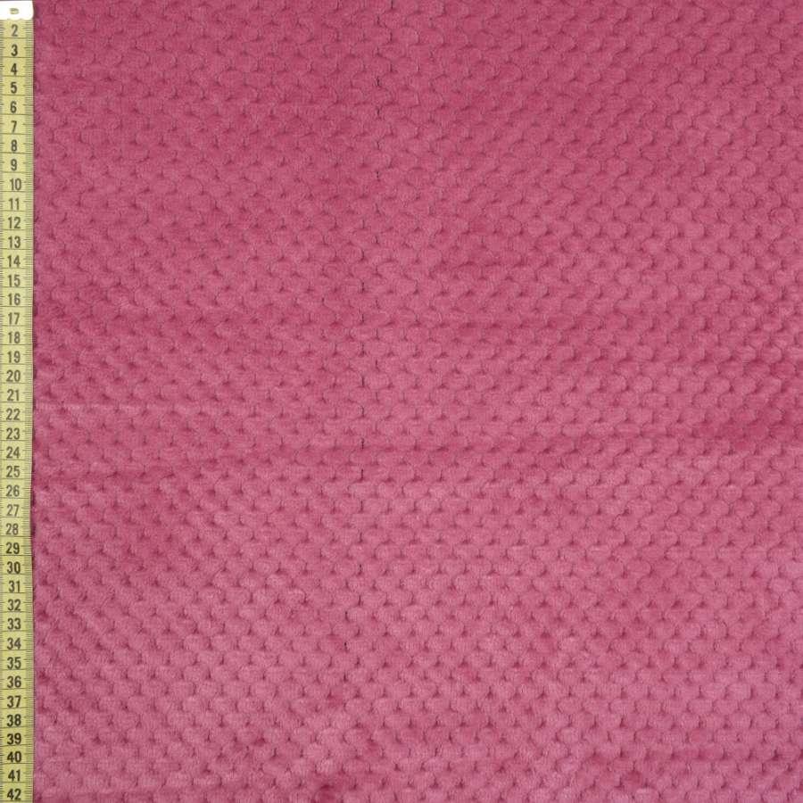 Плюш минки односторонний розово-сиреневый, ш.185