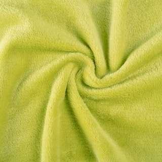 Велсофт (махра) двосторонній зелений (жовтий шартрез) ш.165