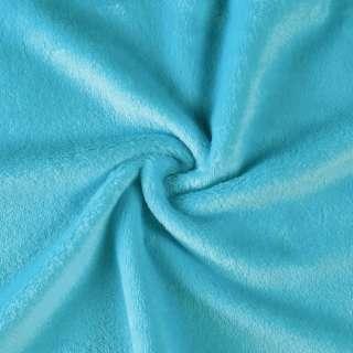 Велсофт (махра) двосторонній блакитний (бірюзовий) ш.165