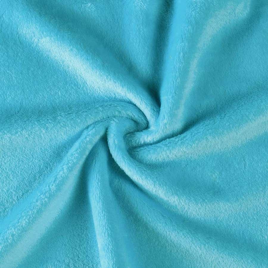Велсофт (махра) двухсторонний голубой (бирюзовый) ш.165