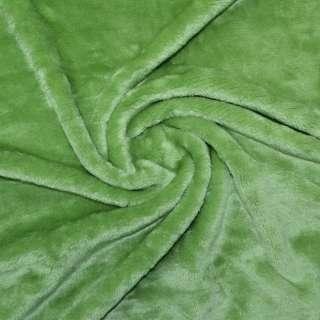 Велсофт-махра двухсторонняя светло зеленая ш.190
