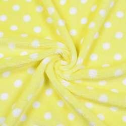 Велсофт односторонній жовтий в білий горох ш.185